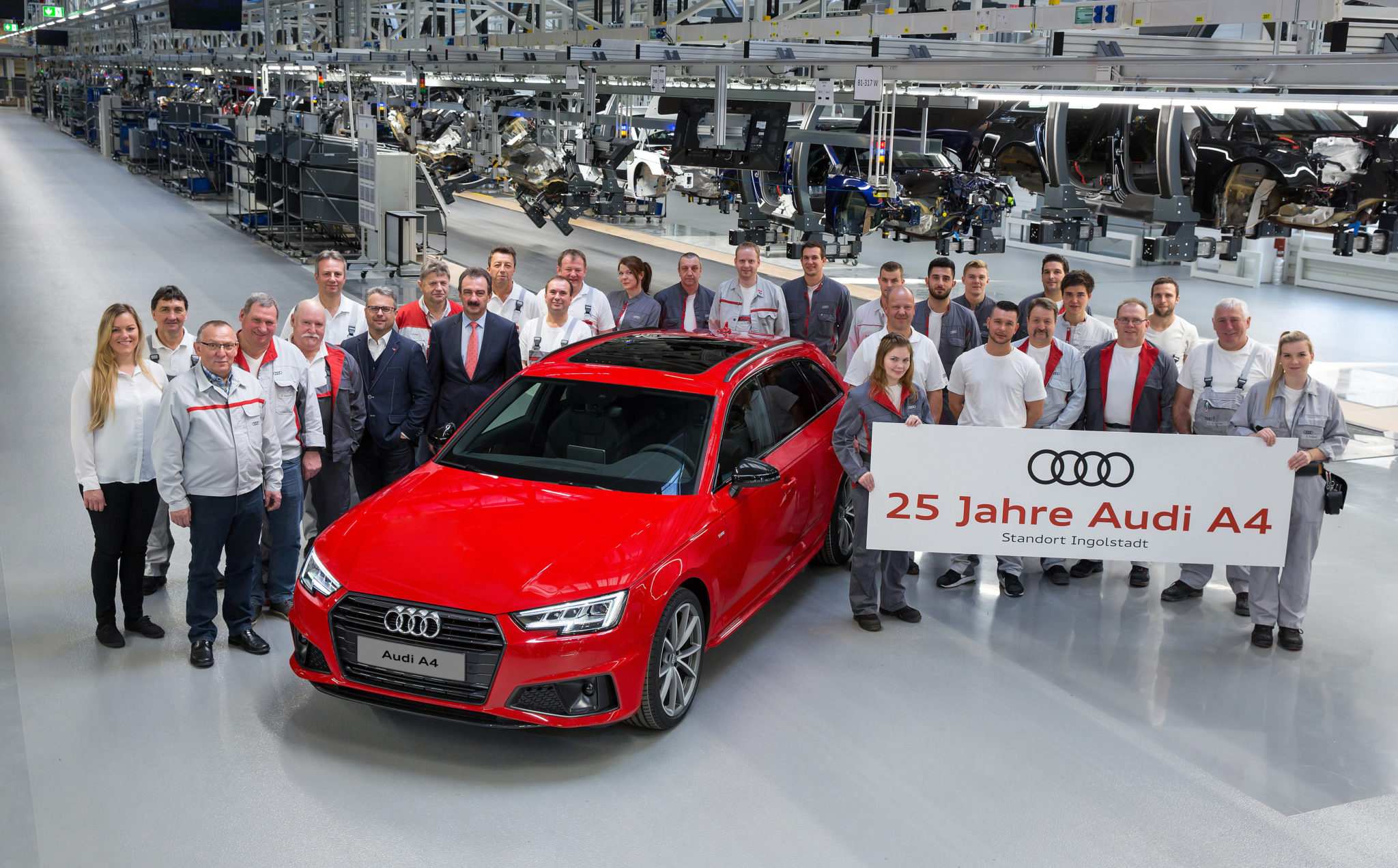 Audi A4 feiert 25.Geburtstag